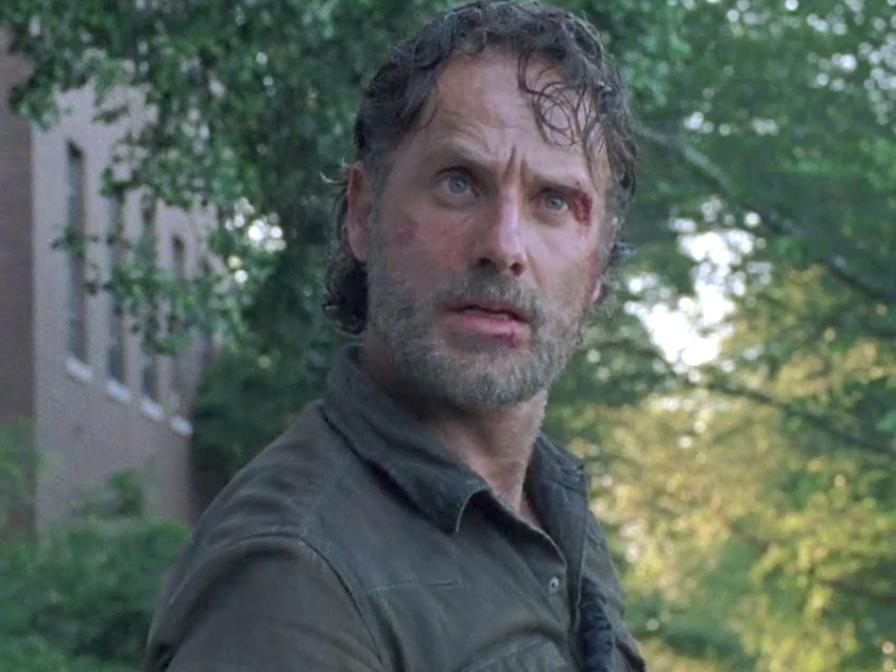 Rick quando Daryl matou o Salvador rendido.