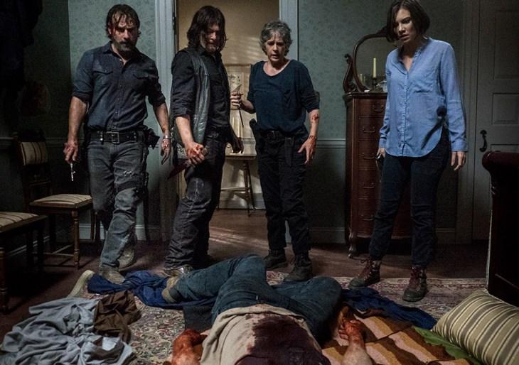 Momento em que Carol tinha acabado de matar Tobin zumbi.