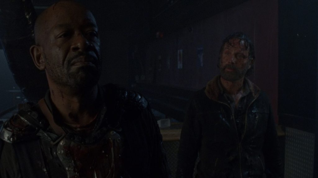 Rick e Morgan depois de um desconto de raiva