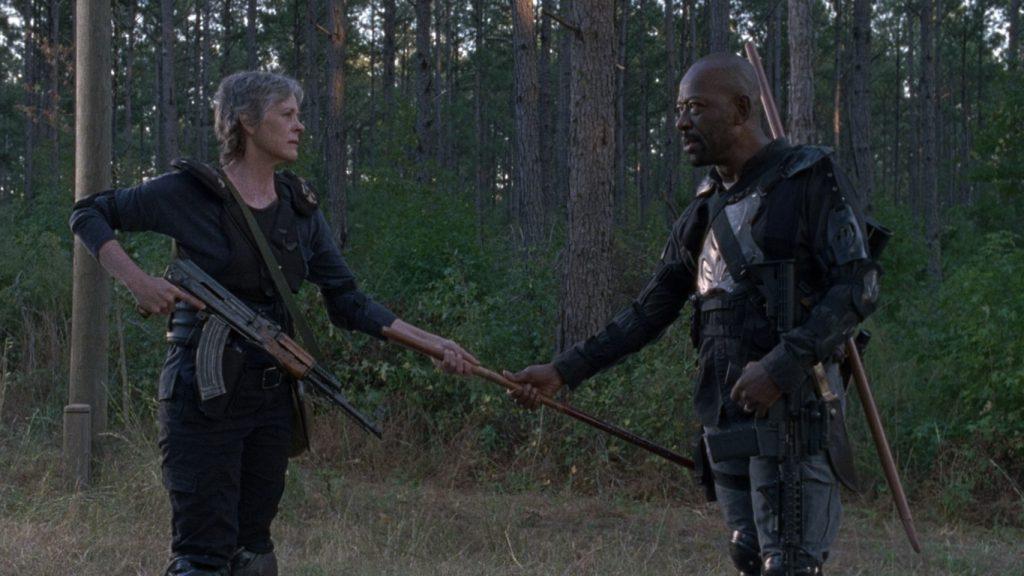 Carol falando com Morgan que vai procurar por Henry