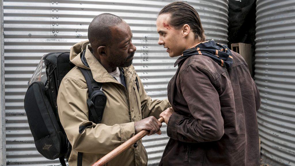 Morgan tentando acalmar Nick